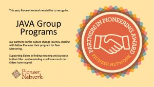 Java Group Programs-Pioneer Network Award